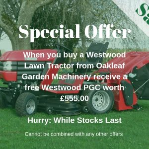 Special Offer! – Westwood Powered Grass Collector Free