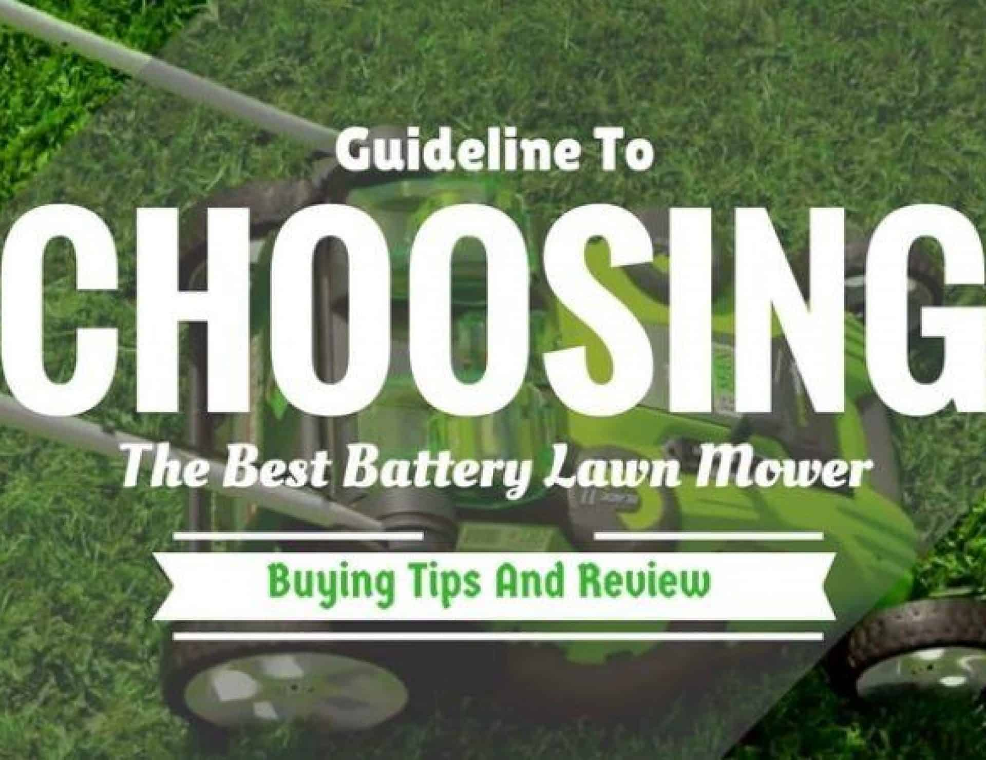 Things to consider before buying a new Lawnmower.