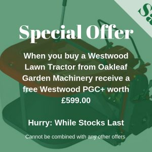 Special Offer! – Westwood Powered Grass Collector + Free